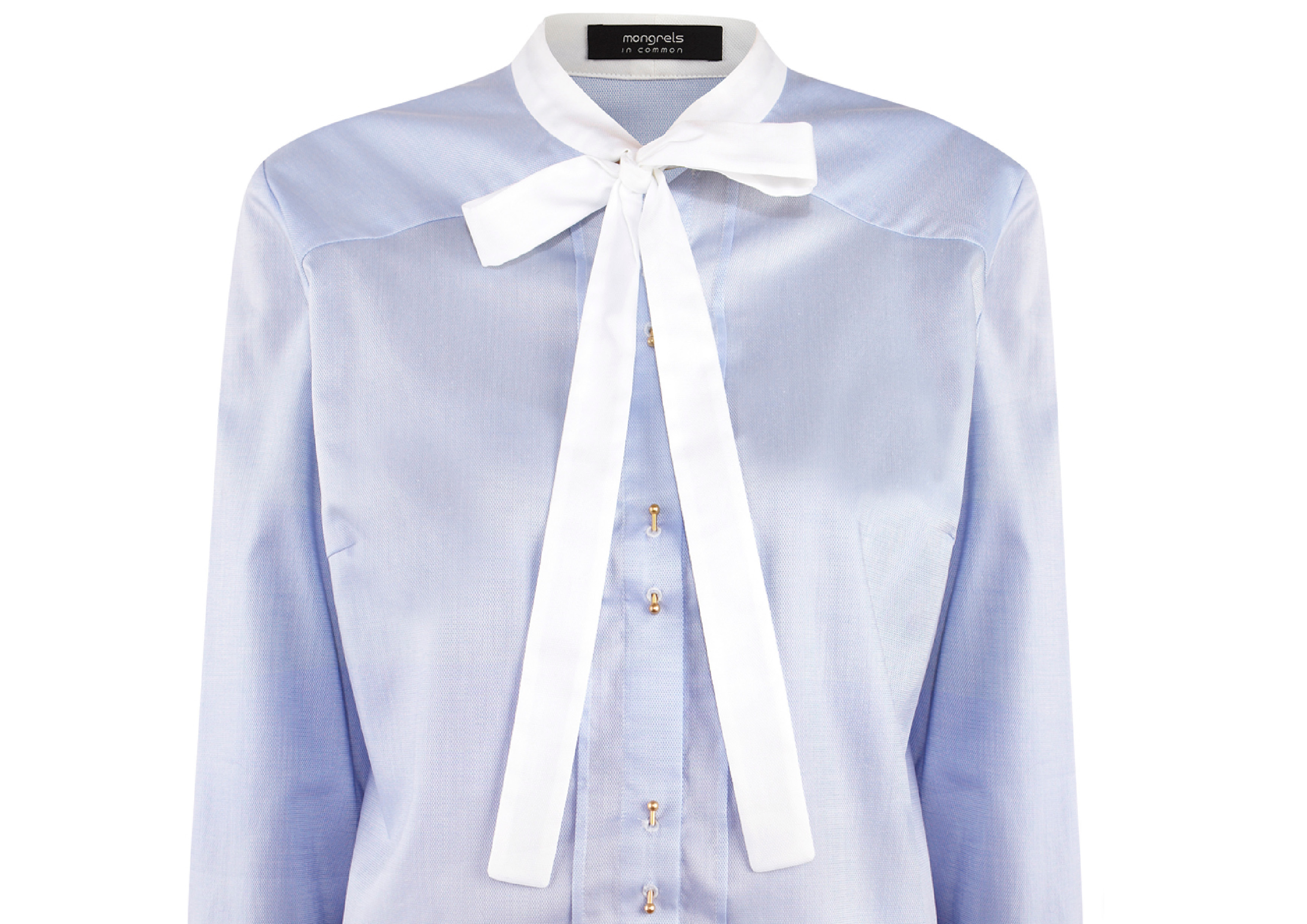 little bow tie bluse
